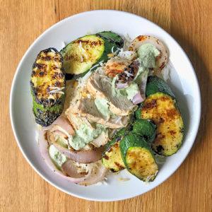 Grilled Chicken Greek Kabobs Deconstructed