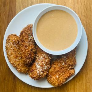 Chicken Fingers with My Pleasure Sauce